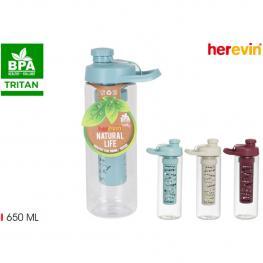 Botella Agua Con Infusor 650Ml Tritan