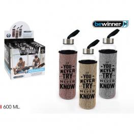 Botella Agua Funda Lino 600Ml Bewinne