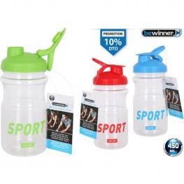 Botella Sport Agua 450Ml Bewinner - Colores Surtidos