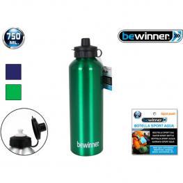 Botella Sport Agua Aluminio Push 750Ml