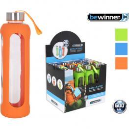 Botella Sport Vidrio 7,2X25Cm Bewinner - Colores Surtidos