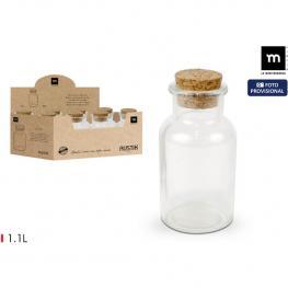 Botella Vidrio C/tapon Corcho 1.1Lt Mediter