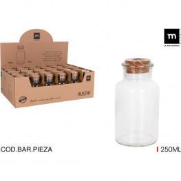 Botella Vidrio C/tapon Corcho 250Ml Mediter