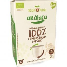 Café Orgánico Arábica, 10 Cápsulas Compostables Origen Compatibles Nespresso