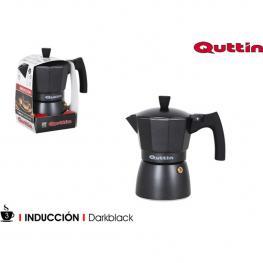 Cafetera 3 Serv.Induccion Darkblack Quttin