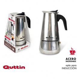 Cafetera 4 Servicios Inducción Inox Quttin