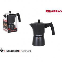 Cafetera 6 Serv.Induccion Darkblack Quttin