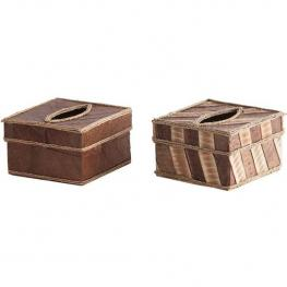 Caja de Pañuelos Cuadrada - 2 Modelos Surtidos
