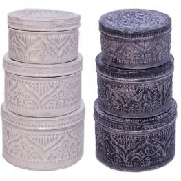 Caja Redonda Juego de 3 - 2 Diseños Surtidos