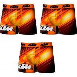 Set 3 Boxers Ktm Microfibra Multicolor