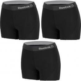Set 3 Shorts Deportivos Deportivo Para Mujer Reebok - Cintura Alta - Negro