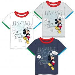 Camiseta Corta Single Jersey Mickey - Gris