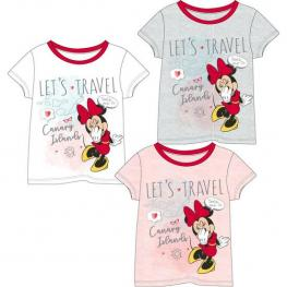 Camiseta Corta Single Jersey Minnie - Gris