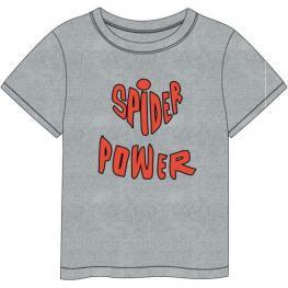 Camiseta Corta Single Jersey Spiderman - Gris