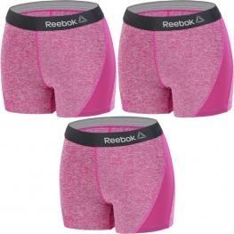 Set 3 Shorts Deportivos Deportivo Para Mujer Reebok - Cintura Alta - Morado