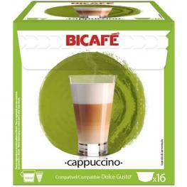 Cappuccino, 16 Cápsulas Bicafe Compatible Dolce Gusto