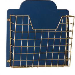 Revistero Dm y Metal - Azul/dorado