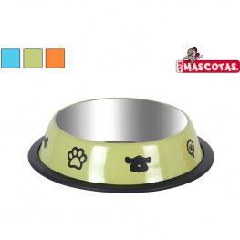 Comedero Perros 21X4.5Cm Mascotas - Colores Surtidos