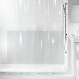 Cortina de Ducha Textil - Transparente