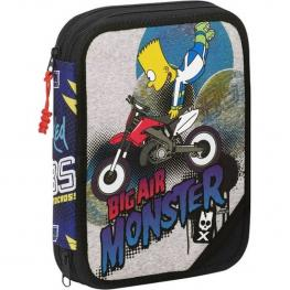 Plumier Doble Simpsons Big Air Monster 56 Piezas