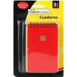 Cuaderno Gusanillo, 12.2X7.6, 50 Hojas, 3Uds.