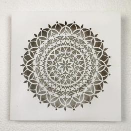 Cuadro Mandala de Madera 30X30Cm - Diseño 1