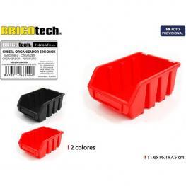 Cubeta Organizadora Ergobox 11,6X16,1X7,5Cm Bricotech - Colores Surtidos