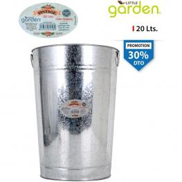 Cubo Basura Metal 20Lts Little Garden