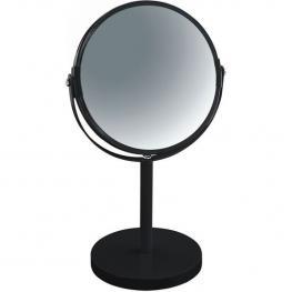 Espejo de Pie Para Tocador O Baño 17X17X27 (Reversible: 100% y X2 Aumentos), Metal, Negro