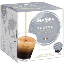 Espresso Deciso Gimoka Dolce Gusto Compatible 16 Cápsulas