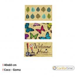 Felpudo Coco-Goma Trenzado 40X60Cm Welcome Confortime - Surtidos