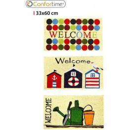Felpudo Cocogoma 33X60Cm Welcome Confortime - Diseños Surtidos