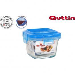 Fiambrera Cuadrada Con Tapa  Blue 9X9X68 Quttin