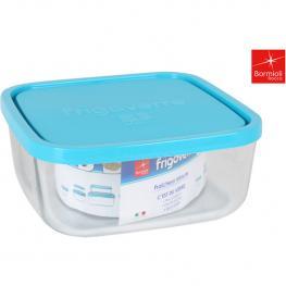 Fiambrera Cuadrado 22X22Cm Tapa Azul