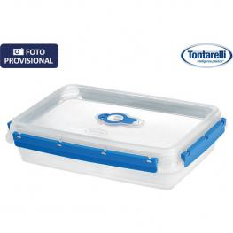 Fiambrera Rectangular 2L Fresh System Transparente/azul