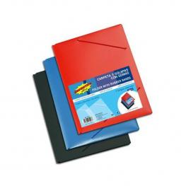 Carpeta Flexible Con Gomas y 3 Solapas - Colores Surtidos