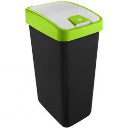 Cubo de la Basura Premium Con Tapa Abatible, Tacto Suave, 45 L, Magne, Verde