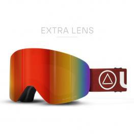 Gafas de Esquí Freeride V2 Negfro / Rojo