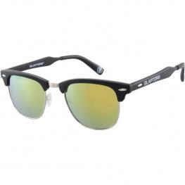 Glaptors - Gafas de Sol Air Force Negro Mate y Amarillo Espejo