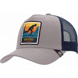 Gorra Trucker Born To Skate Gris The Indian Face Para Hombre y Mujer