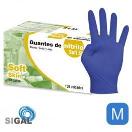 Guante Nitrilo Sp Soft Skin 100Uds Talla M