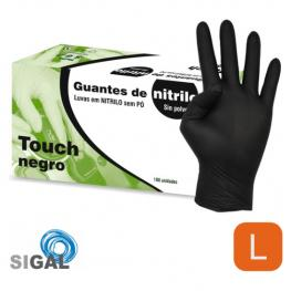 Guante Nitrilo Sp Touch Negro 100Uds Talla G