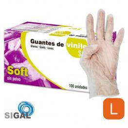 Guante Vinilo Cp Soft 100Uds Talla G