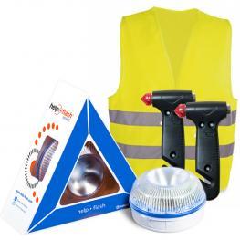 Help Flash Smart - Luz de Emergencia Autónoma  + 2 Martillos + Chaleco