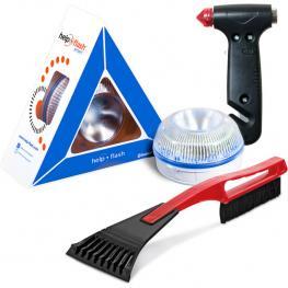 Help Flash Smart - Luz de Emergencia Autónoma + Martillo y Rascador
