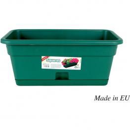 Jardinera Con Plato 40X20Cm Verde