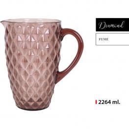 Jarra 2264Ml Plástico Fume Diamond