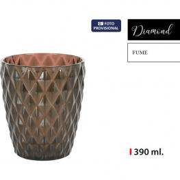 Vaso 390Ml Plástico Fume Diamond
