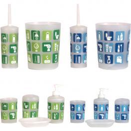 Juego Baño 6 Piezas - Colores Surtidos