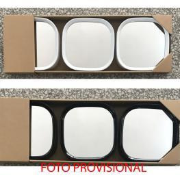Juego de 3 Espejos Cuadrado Blanco/negro - Surtidos